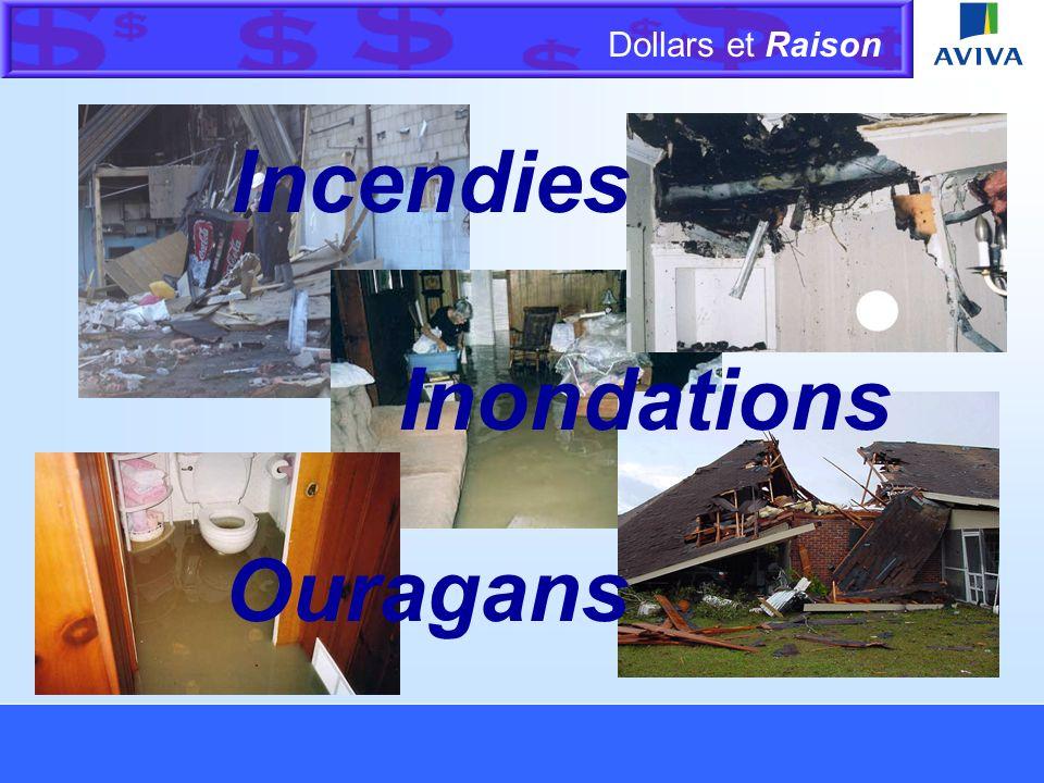 Dollars et Raison Menu Activité sur les franchises Lorsqu un incendie cause des dommages à un bâtiment et à son contenu, Dan réclame 5 000 $ pour le bâtiment et 1 000 $ pour son contenu.