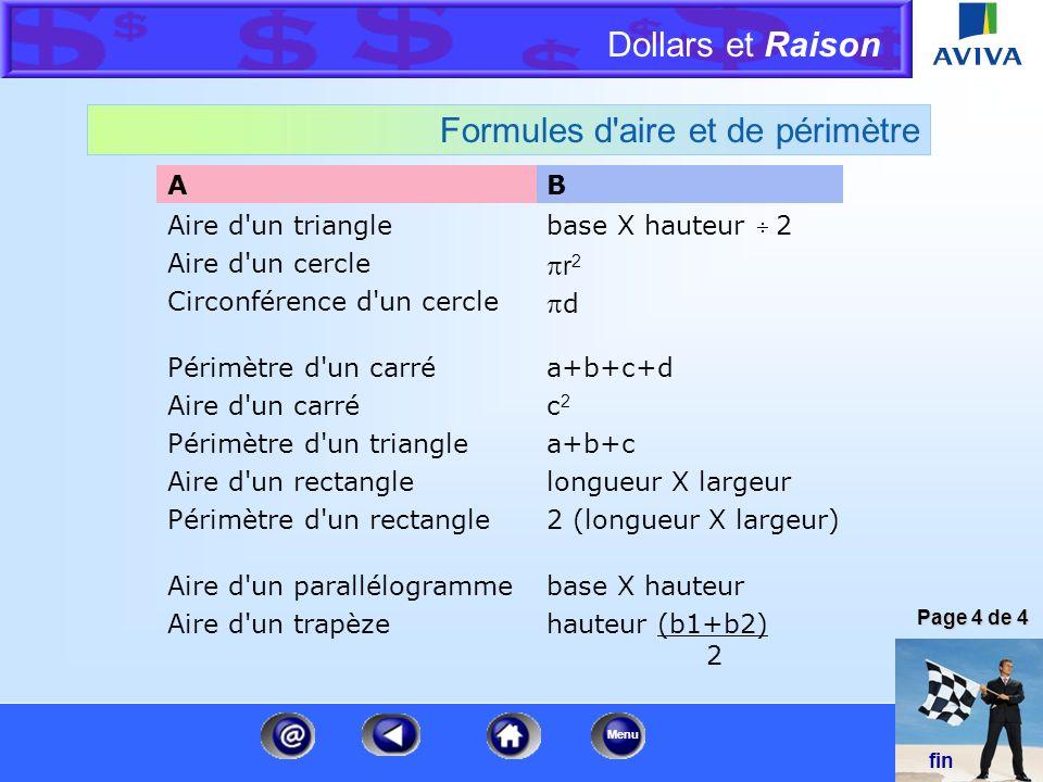 Dollars et Raison Menu Conversion de pouces en nombres décimaux Fraction Nombre décimal 1/16 po 1/8 po 3/16 po ¼ po 5/16 po 3/8 po 7/16 po ½ po 9/16 p