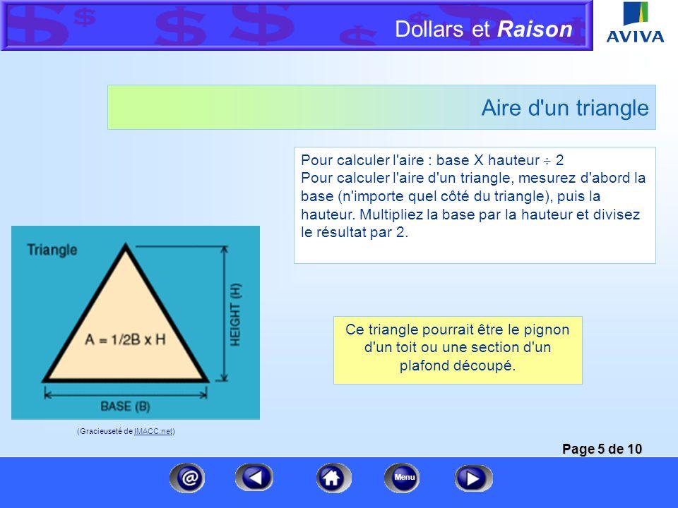 Dollars et Raison Menu Aire d un rectangle et d un carré Lors d estimations pour des matériaux de recouvrement, vous mesurez généralement des surfaces rectangulaires.