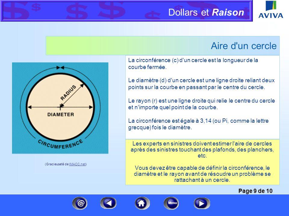 Dollars et Raison Menu Aire d'un parallélogramme Cette formule est identique à celle du rectangle, car un parallélogramme est un rectangle aux côtés o