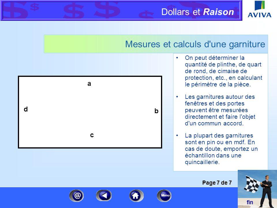 Dollars et Raison Menu Mesures et calculs du bois d'oeuvre Mesurez la distance entre les poteaux du centre, c.-à-d. la distance entre le milieu d'un p