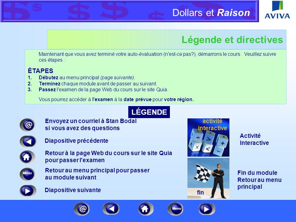 Dollars et Raison Menu Et maintenant, un mot de notre chargé de la formation technique Dollars et Raison est un cours d'appoint destiné à nos experts