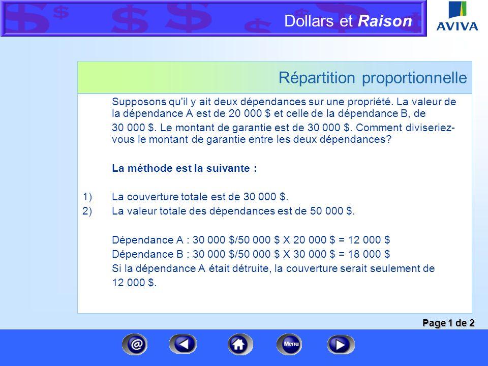 Dollars et Raison Menu Dépréciation EXEMPLE 1 : Robe de cocktail de haute couture Valeur à neuf5 000 $ Durée de vie10 ans Âge réel5 ans Calcul5 10 X 5