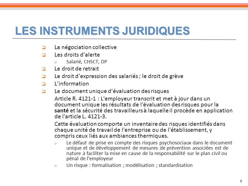 9 Article L4121-2 L employeur met en œuvre les mesures prévues à l article L.