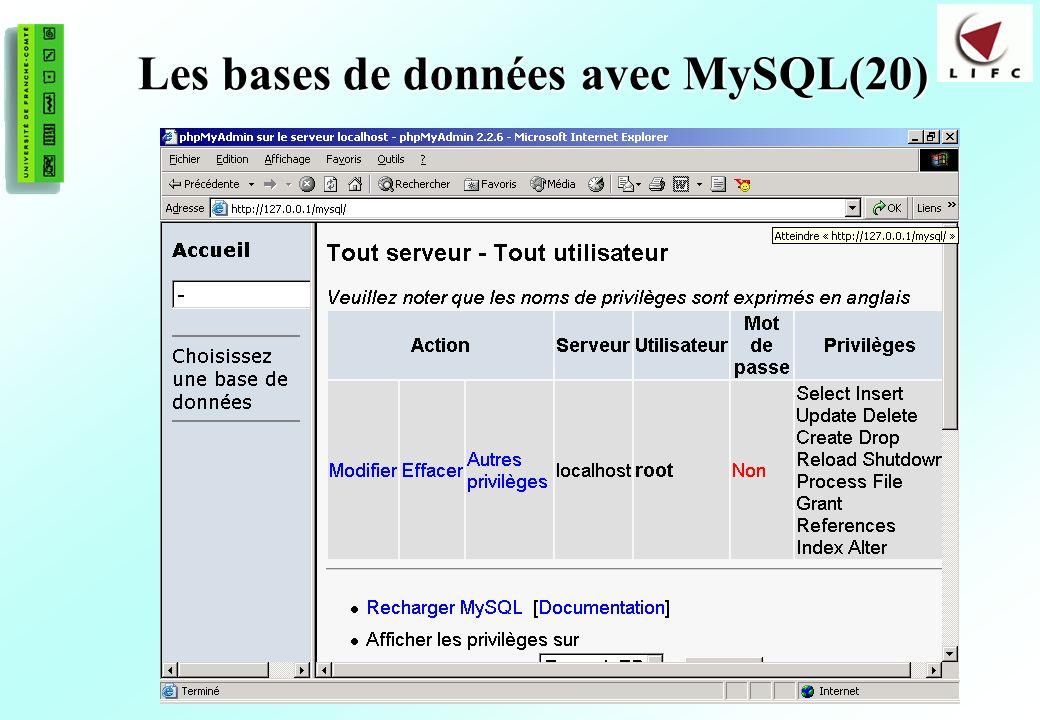 168 Les bases de données avec MySQL(20)