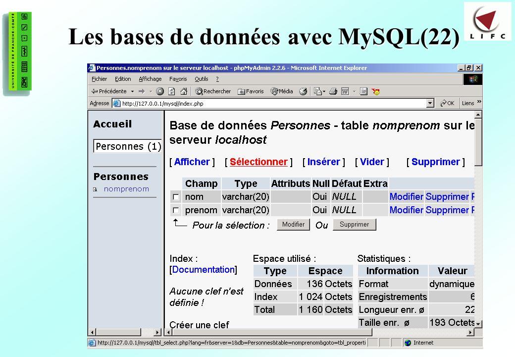 170 Les bases de données avec MySQL(22)