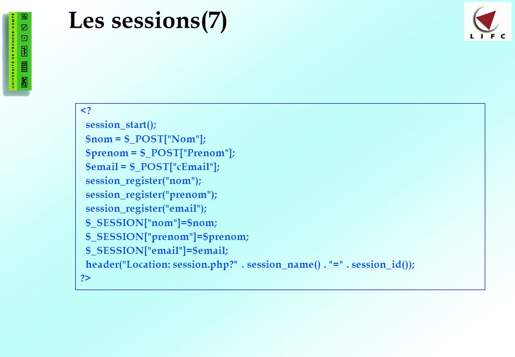177 Les sessions(7) <.