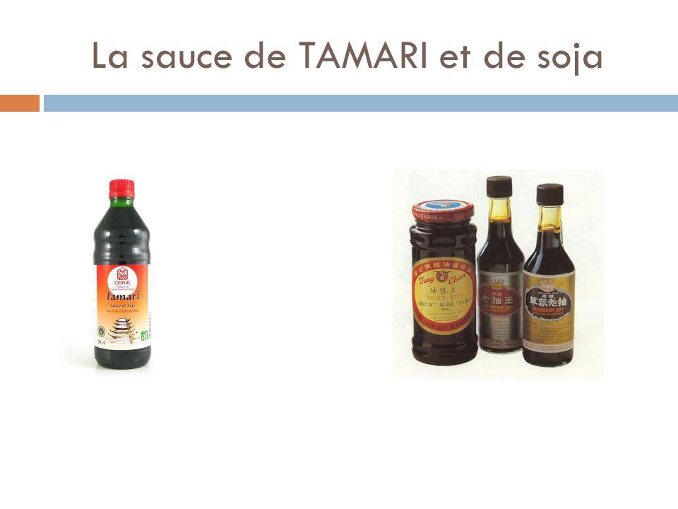 La sauce de TAMARI et de soja