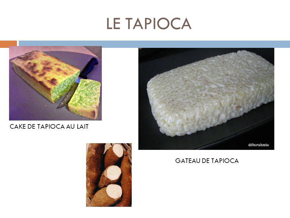 LE TAPIOCA GATEAU DE TAPIOCA CAKE DE TAPIOCA AU LAIT