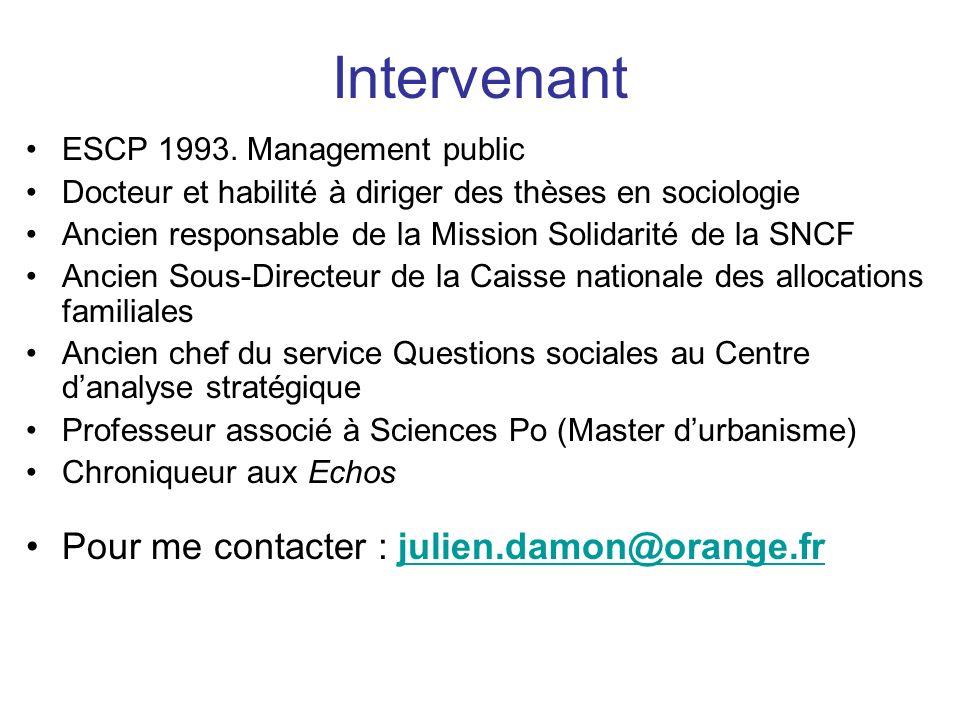 ESCP 1993. Management public Docteur et habilité à diriger des thèses en sociologie Ancien responsable de la Mission Solidarité de la SNCF Ancien Sous