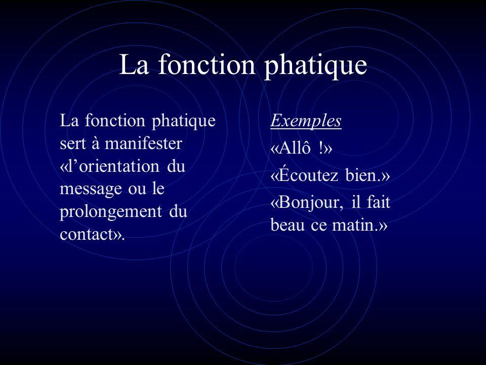 La fonction métalinguistique La fonction métalinguistique est centrée sur le code.