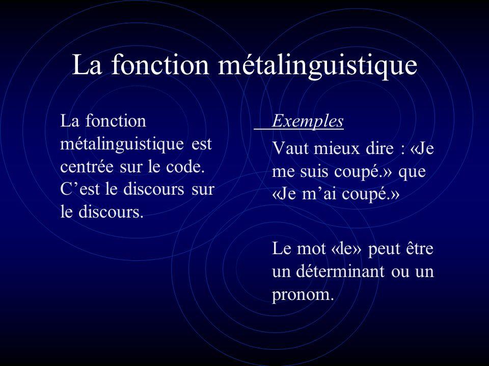 La fonction poétique La fonction poétique porte sur les structures du message lui-même, ses structures expérientielles, interpersonnelles et textuelles.