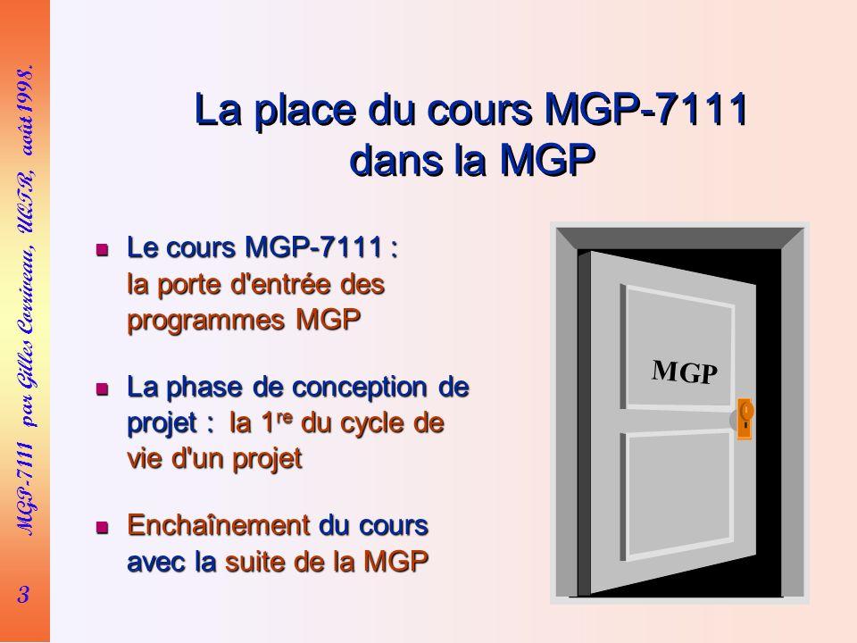 3 MGP-7111 par Gilles Corriveau, UQTR, août 1998.