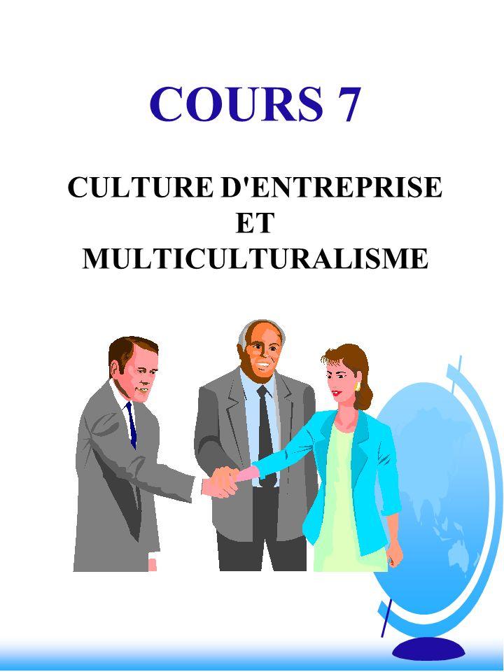 COURS 7 CULTURE D'ENTREPRISE ET MULTICULTURALISME
