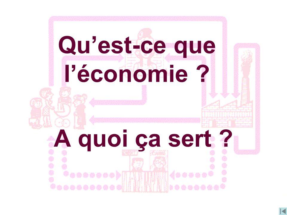 A quoi ça sert ? Quest-ce que léconomie ?