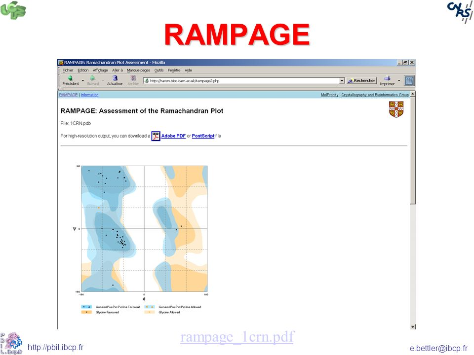 e.bettler@ibcp.fr http://pbil.ibcp.fr RAMPAGE rampage_1crn.pdf