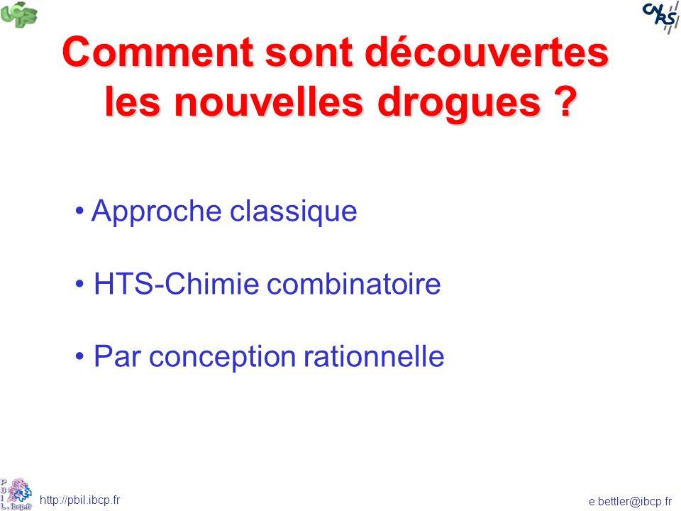 e.bettler@ibcp.fr http://pbil.ibcp.fr Comment sont découvertes les nouvelles drogues .
