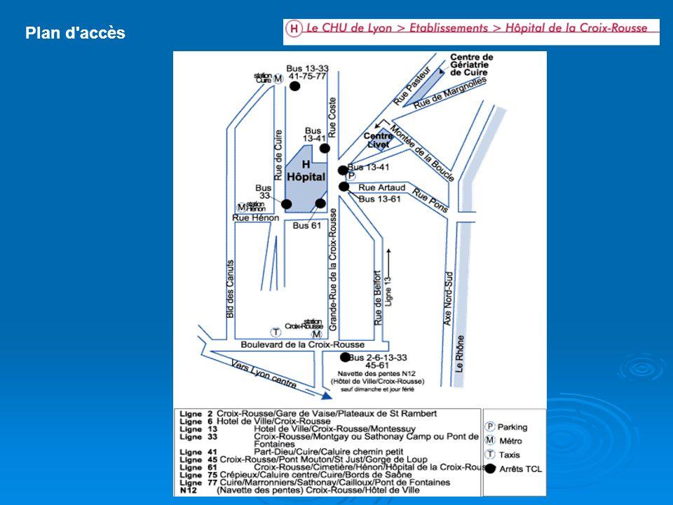 Plan interne Services d hospitalisation 9 Bureau des Admissions 1 Chirurgie maxillo-faciale (rdc) 3 Ophtalmologie (1er étage) 3 ORL (2° étage) 3 Cardiologie, Soins intensifs (3° ét.) 6 Maternité (accouchements, visiteurs) 7 Gynécologie 6 Néonatologie, Lactarium 7 Orthogénie Hépato-gastro-entérologie (1er étage) 10 unité St Irénée 10 unité St Nizier (hôp.