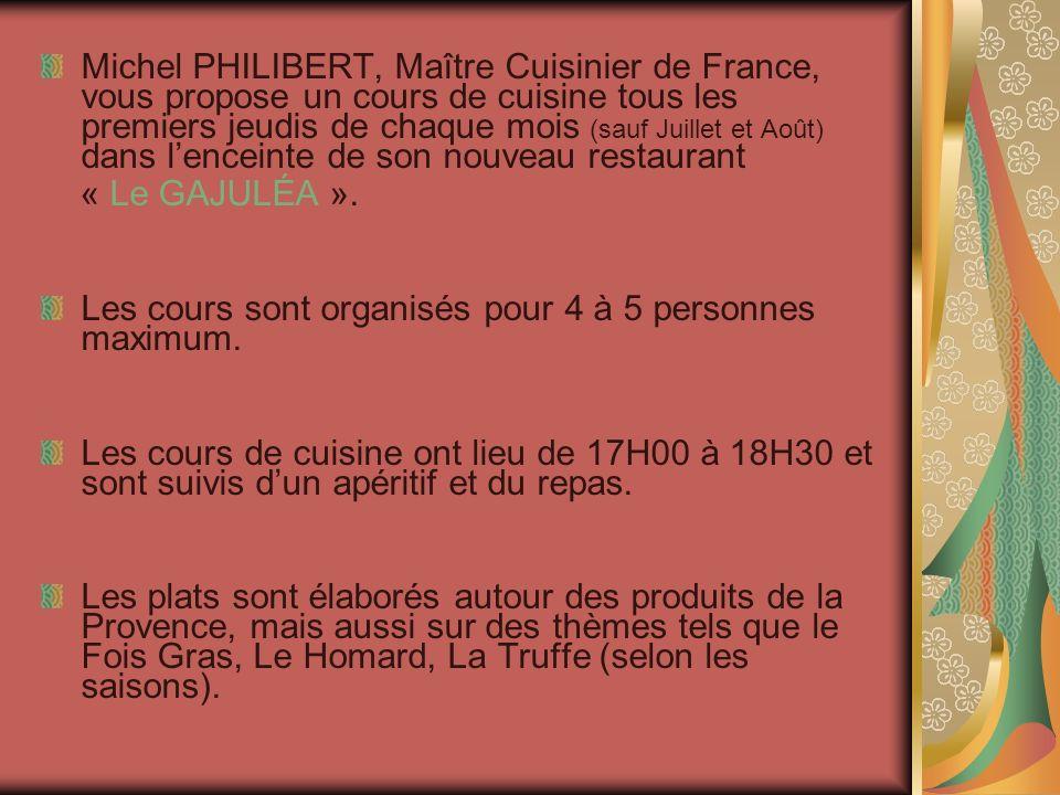 Michel PHILIBERT vous propose un cours de cuisine dans un magnifique lieu Le Château du Barroux et le Mont Ventoux