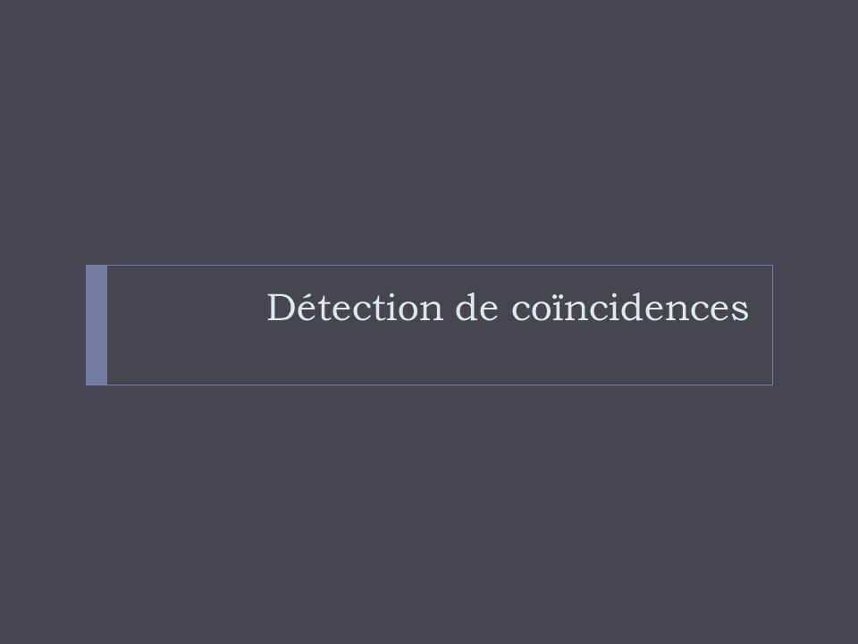 Détection de coïncidences