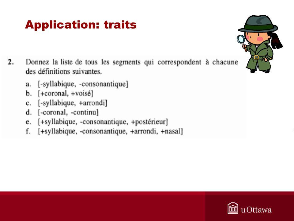 Application: traits
