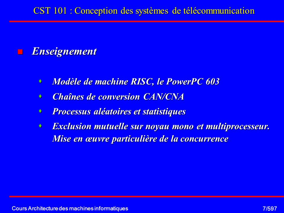 Cours Architecture des machines informatiques 38/597 Floating Point Unit: Etage de calcul fadd S 1 exp 1 mantisse 1 H S 2 exp 2 mantisse 2 S exp mantisse