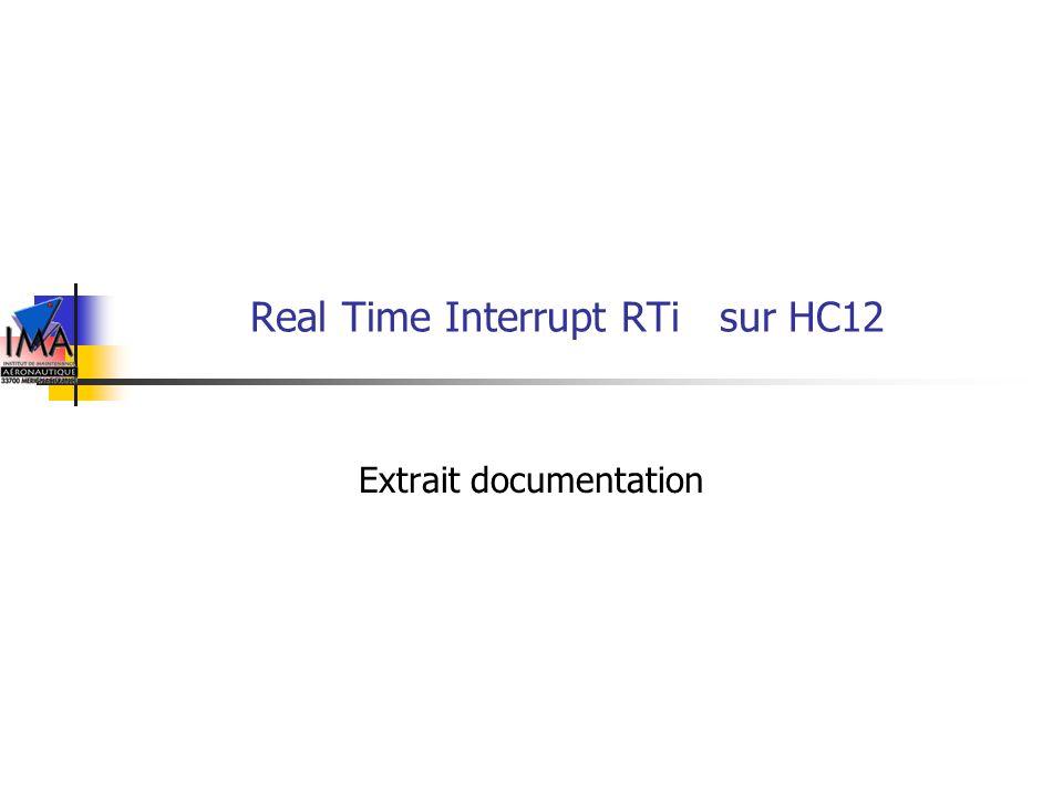 Real Time Interrupt RTi sur HC12 Extrait documentation