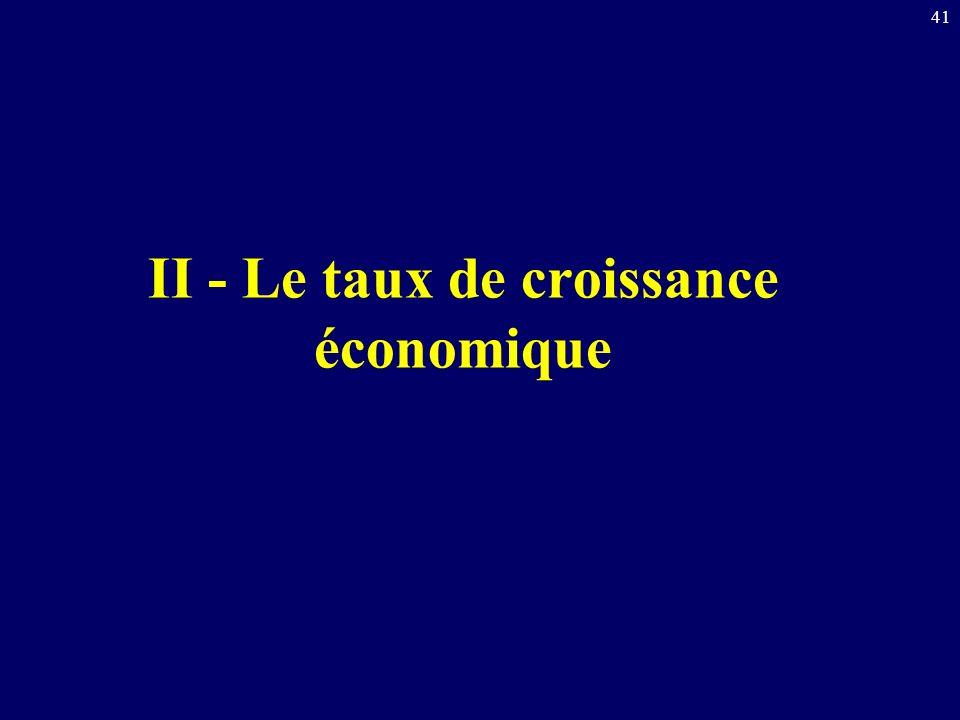 41 II - Le taux de croissance économique