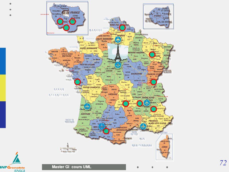 72 Master GI cours UML Pays de Loire ENS Cachan ENSAM Ile de France Auvergne Toulouse Rhône Alpes Ouest Lorraine Nord Pas de calais Dauphiné Savoie Fr