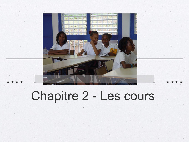 Chapitre 2 - Les cours