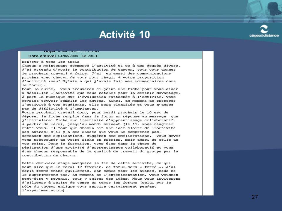 27 Activité 10