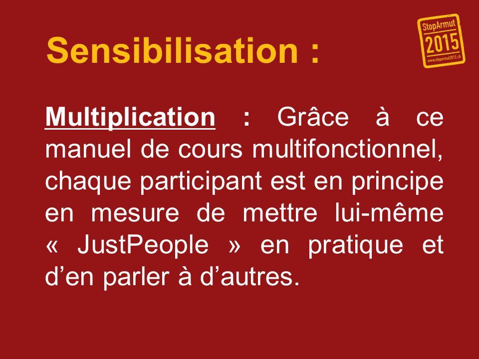 Sensibilisation : Multiplication : Grâce à ce manuel de cours multifonctionnel, chaque participant est en principe en mesure de mettre lui-même « Just