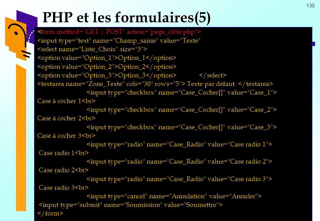 135 PHP et les formulaires(5) <input type=