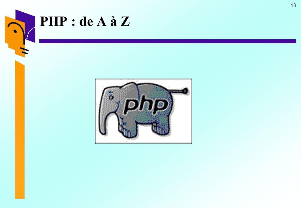 18 PHP : de A à Z