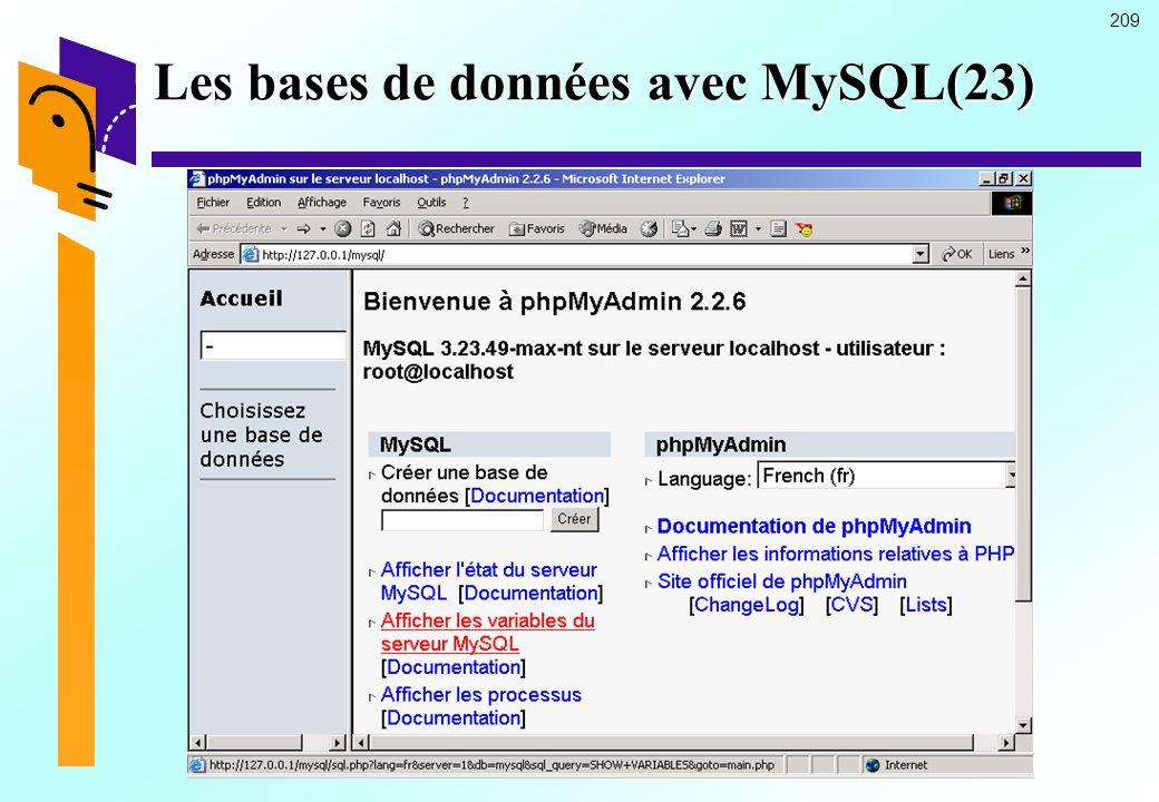 209 Les bases de données avec MySQL(23)