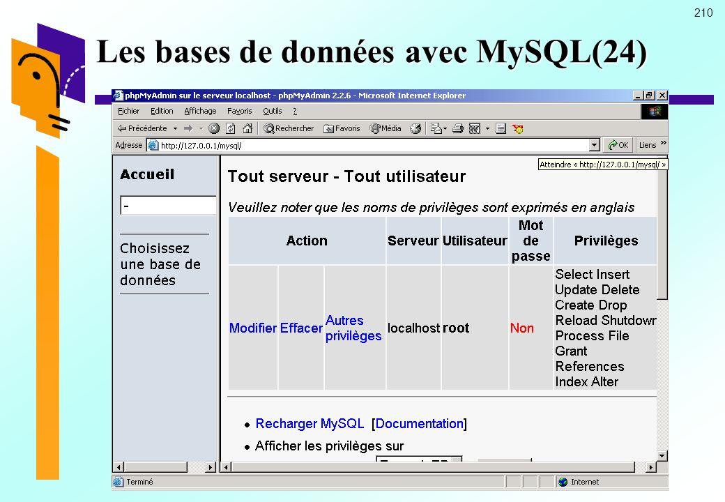 210 Les bases de données avec MySQL(24)