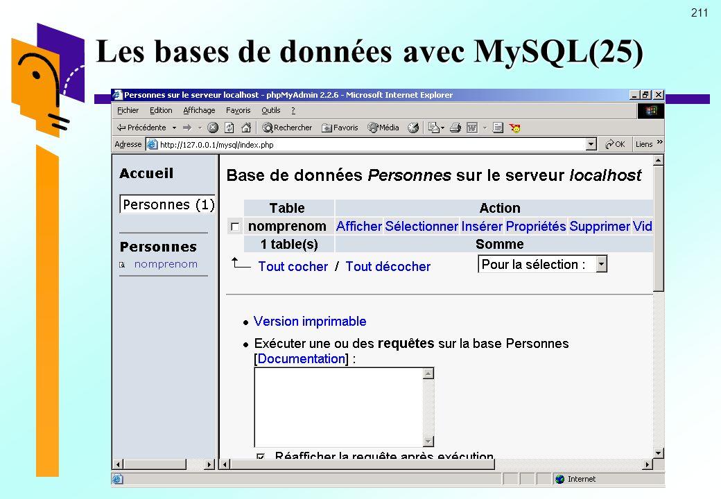 211 Les bases de données avec MySQL(25)