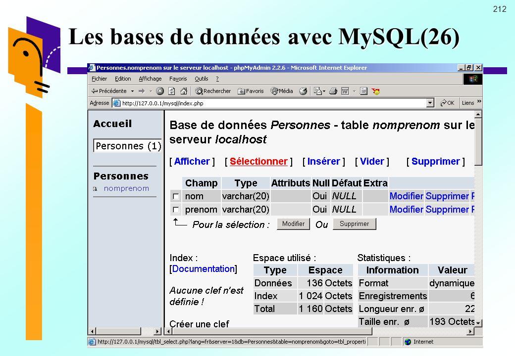 212 Les bases de données avec MySQL(26)