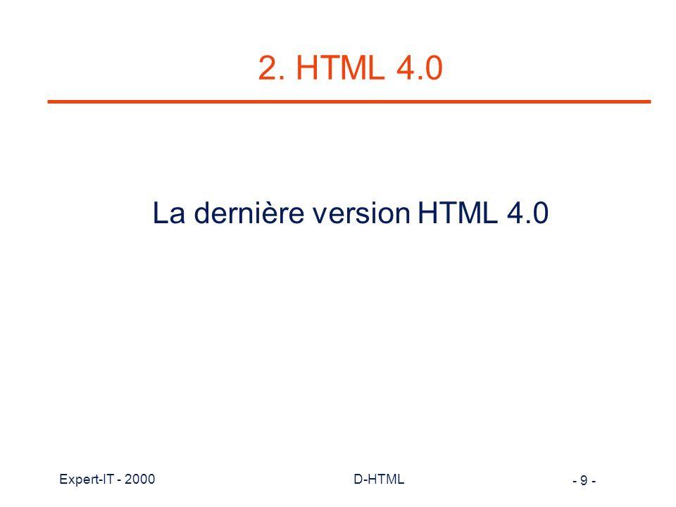 - 20 - Expert-IT - 2000D-HTML DOM de Microsoft