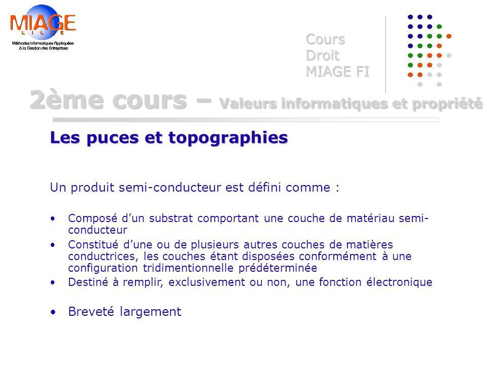 Un produit semi-conducteur est défini comme : Composé dun substrat comportant une couche de matériau semi- conducteur Constitué dune ou de plusieurs a