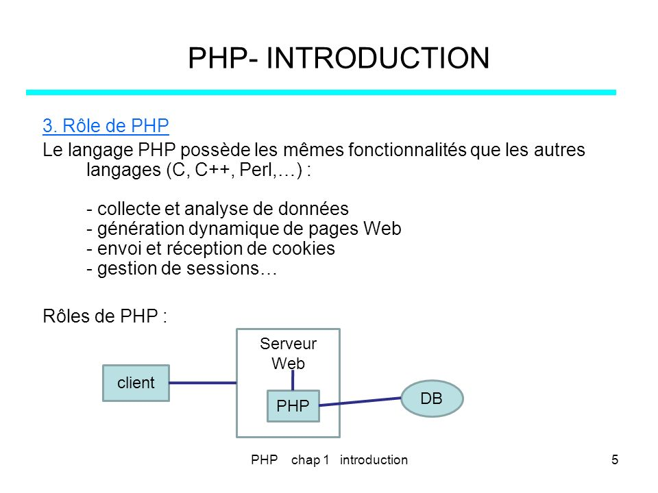 PHP chap 11 - les fichiers176 PHP – FICHIERS.