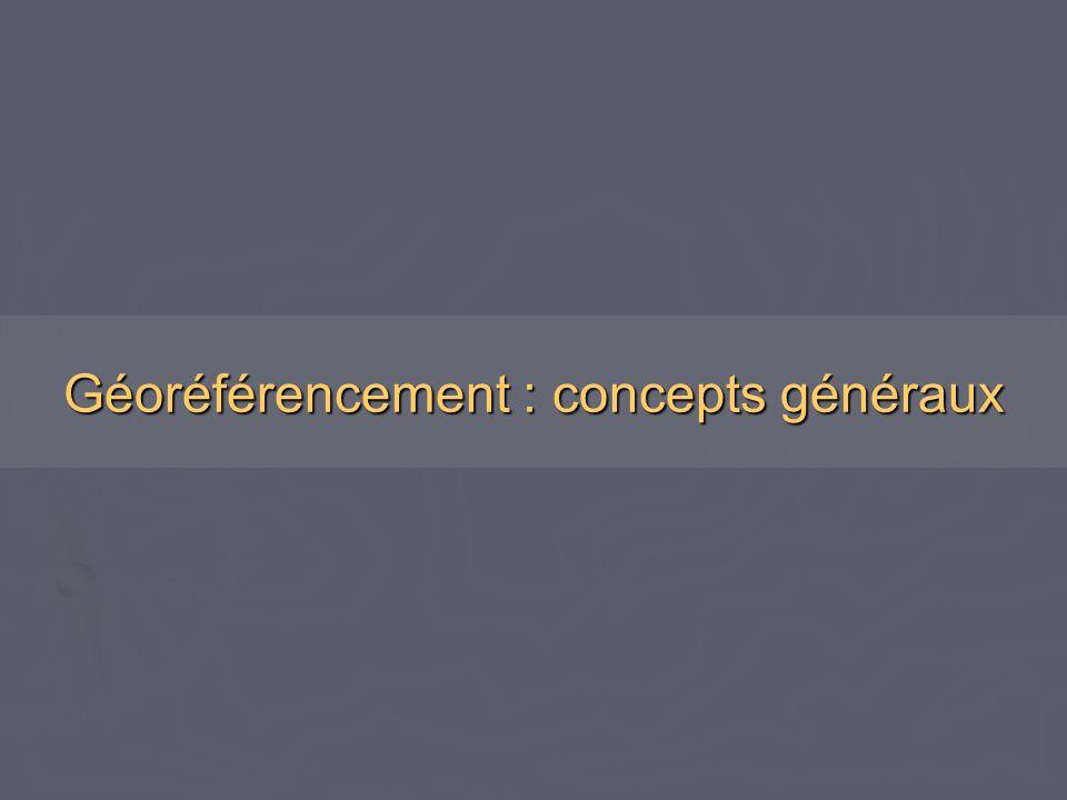 Géoréférencement : concepts généraux
