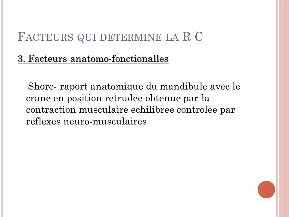 F ACTEURS QUI DETERMINE LA R C 3.