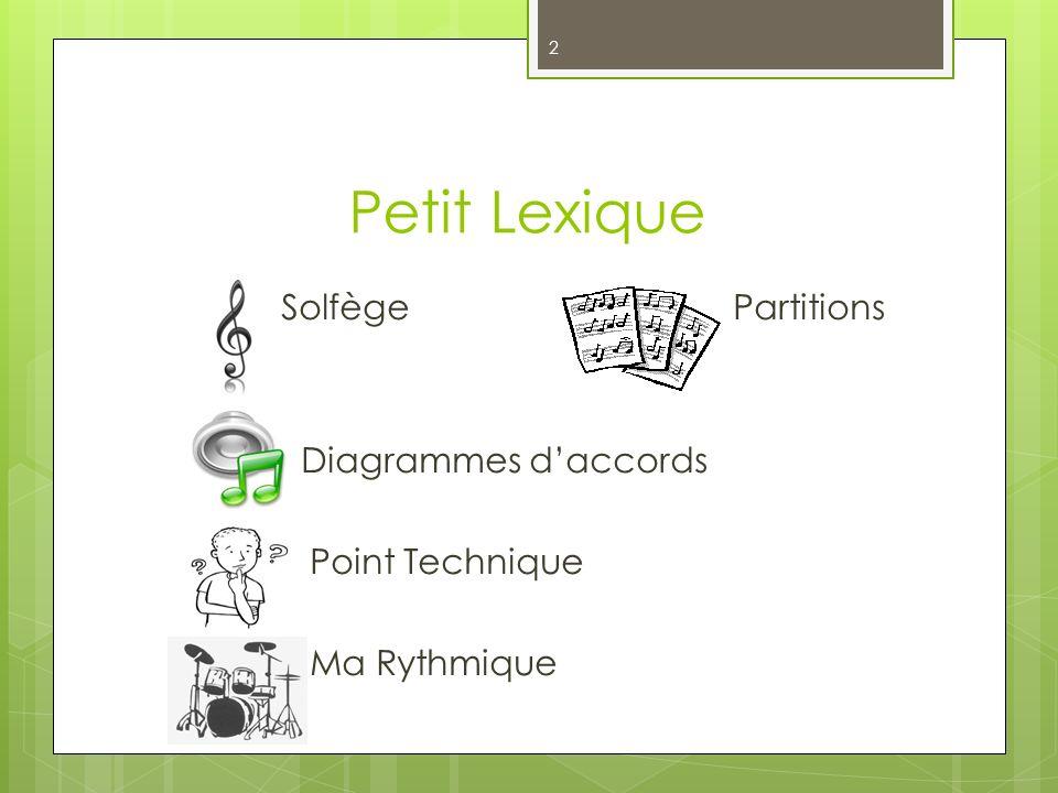 Petit Lexique 2 SolfègePartitions Diagrammes daccords Point Technique Ma Rythmique