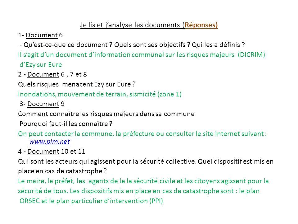 Je lis et janalyse les documents (Réponses) 1- Document 6 - Quest-ce-que ce document .