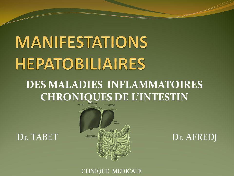 DES MALADIES INFLAMMATOIRES CHRONIQUES DE LINTESTIN Dr. TABET Dr. AFREDJ CLINIQUE MEDICALE