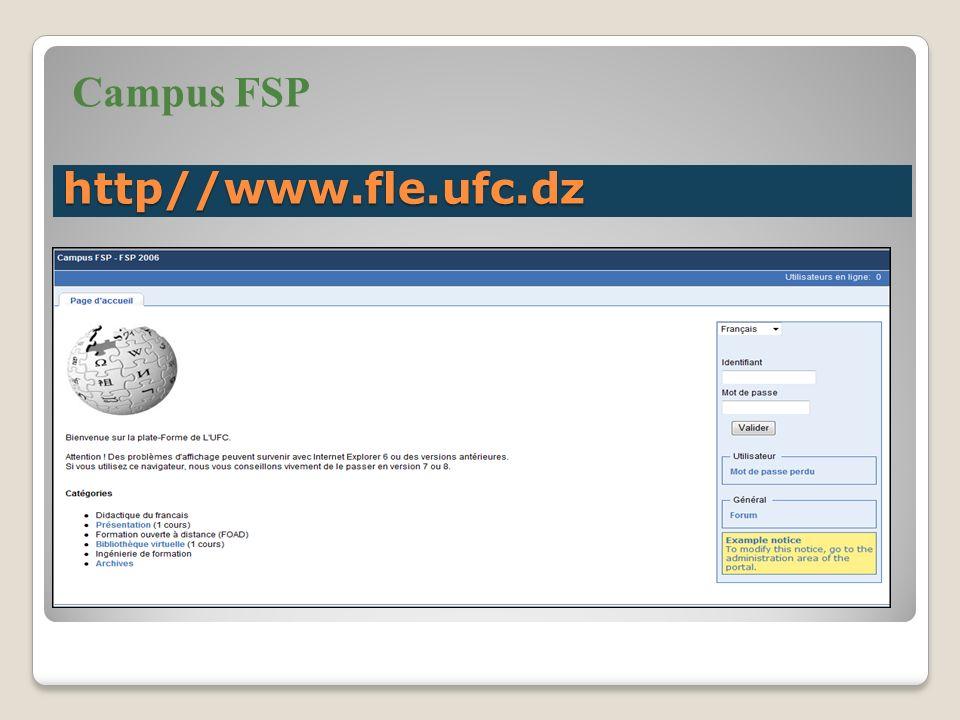http//www.fle.ufc.dz Campus FSP
