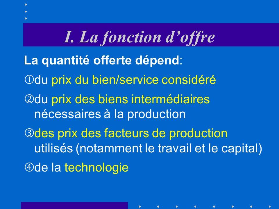 Isoquantes et droite disocoût Unités de capital (K) Unités de travail (L) Le choix de la combinaison des facteurs se fera en fonction des prix des facteurs.