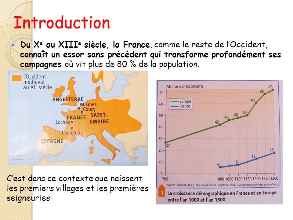 Introduction Du X e au XIII e siècle, la France, comme le reste de lOccident, connaît un essor sans précédent qui transforme profondément ses campagne