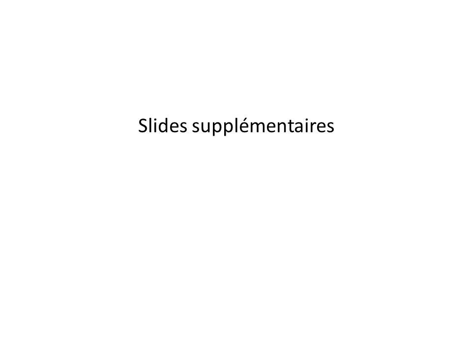Slides supplémentaires